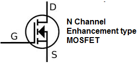 N-channel enhancement type MOSFET symbol