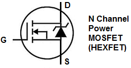 N channel power MOSFET symbol