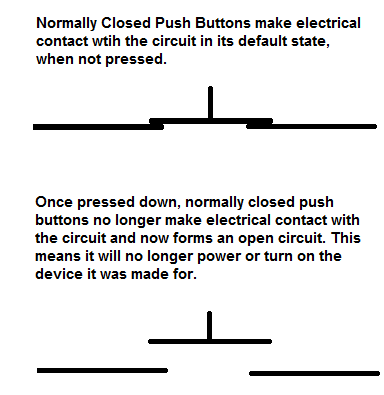 Normally Closed Push Button Diagrams