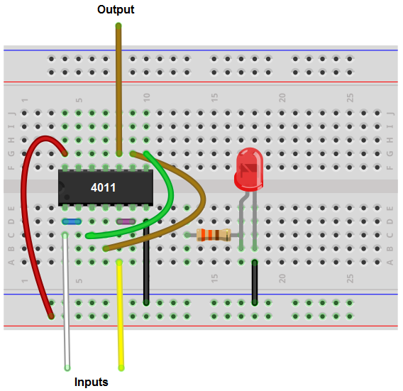 How to Build an OR gate from a NAND Gate