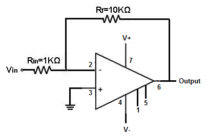 op amp setup connection for amplification