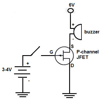 How to build a p channel jfet switch circuit p channel jfet switch circuit ccuart Choice Image