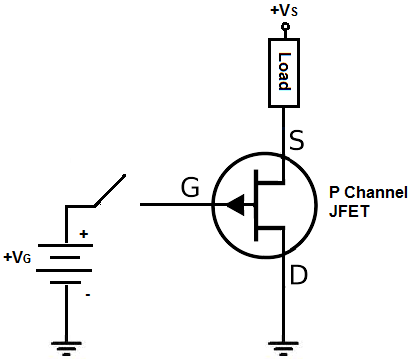 P channel JFET setup