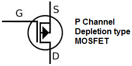 P channel depletion type MOSFET symbol