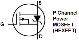 P channel power MOSFET symbol