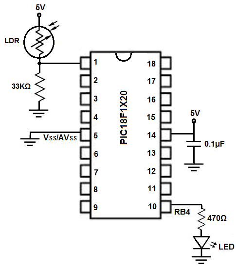 night light schematic diagram