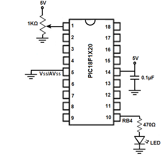 pic potentiometer circuit