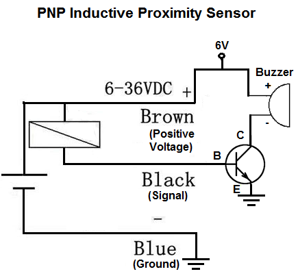 how to build a pnp inductive proximity sensor circuit