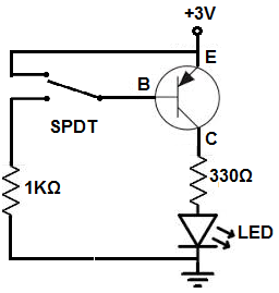 how to connect a pnp transistor in a circuit rh learningaboutelectronics com pnp transistor schematic diagram PNP Transistor Operation