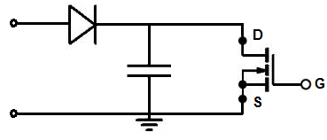 Peak detector circuit with a transistor
