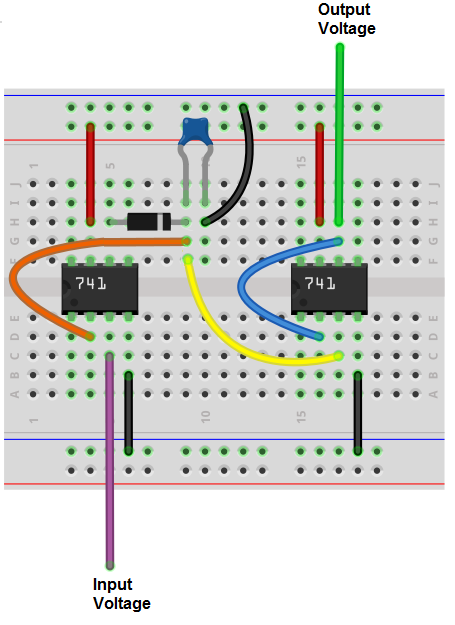 how to build a peak precision detector circuit