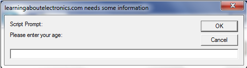 Prompt Dialog Box