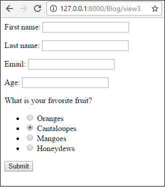 How to Create Radio Buttons in a Django Form