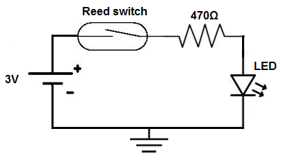 how to build a reed switch circuit rh learningaboutelectronics com Multiple Switch Wiring Diagram Multiple Light Switches