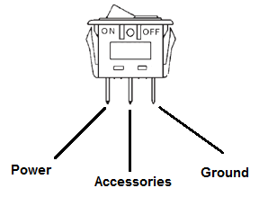 rocker switch wiring, Wiring diagram