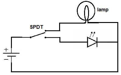 what is a single pole double throw (spdt) switch, Wiring diagram