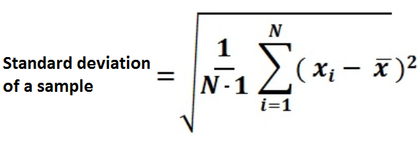 The formula for standard deviation : magiamax.ml