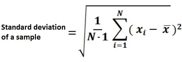 Standard Deviation Formula Example | Gallery