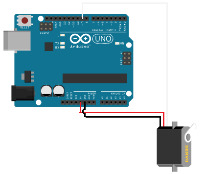 Servo Motor Circuit on arduino power control