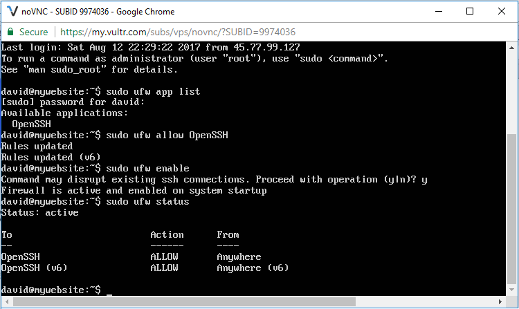 Setting up a firewall for a remote system in linux
