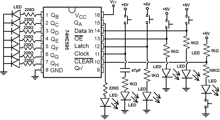 how to build a shift register circuit with manual