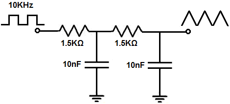 how to build a square wave to triangle wave converter circuit