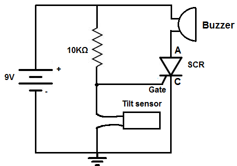 how to build a tilt alarm circuit tilt alarm circuit