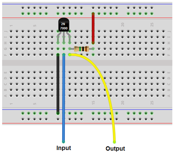 How to build an inverter with a transistor for Transistor inverseur