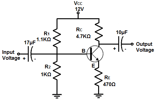 how to build a voltage amplifier circuit with a transistor rh learningaboutelectronics com voltage amplifier transistor circuit diagram provided dc voltage amplifier circuit diagram