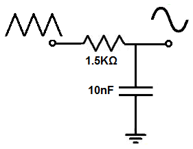 Triangle to sine wave converter circuit