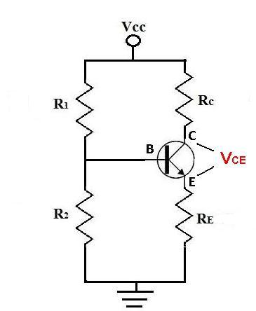 Vce of a transistor circuit