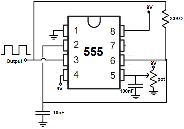how to build a voltage controlled oscillator vco with a 555 timer chip rh learningaboutelectronics com 555 vco circuit diagram 555 vco circuit diagram