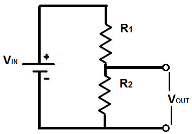 Voltage Divider Circuit Between 2 resistors