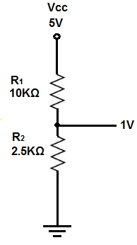 Voltage divider second example