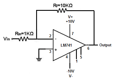 how to build a voltage gain op amp circuit