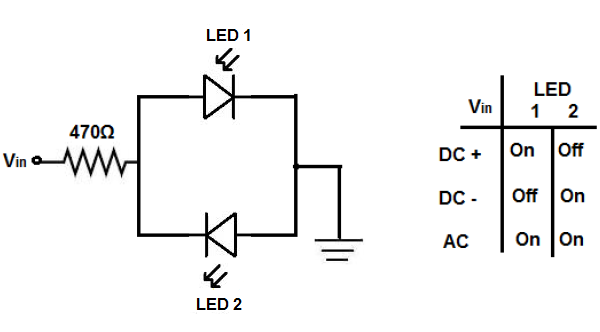 led polarity in a circuit