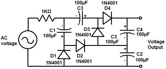 how to build a voltage quadrupler circuit rh learningaboutelectronics com