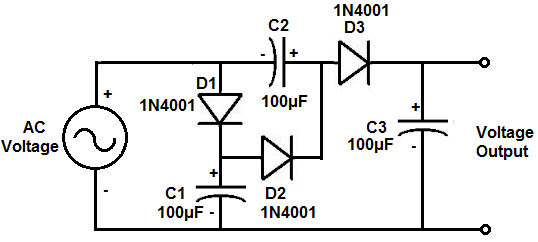 how to build a voltage tripler circuit