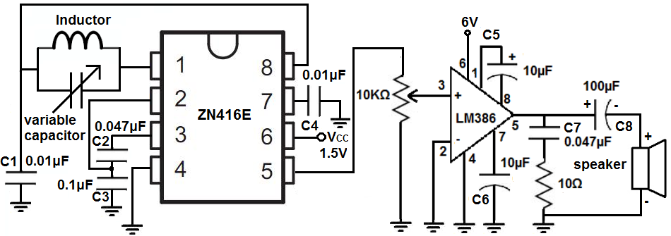 ZN416E AM radio circuit