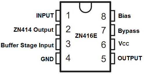 ZN416E radio chip pinout