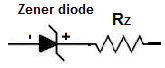 Zener resistance in series with diode
