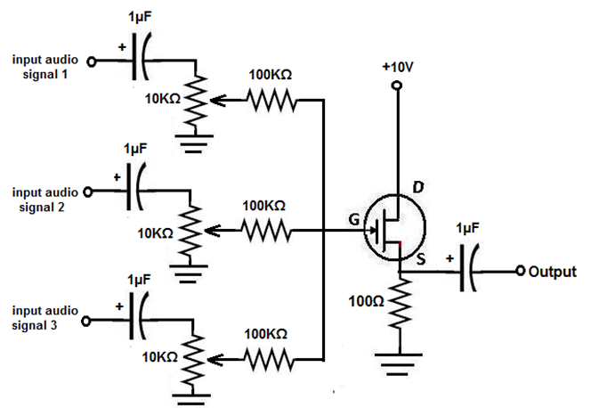 low cost mic mixer  u2013 electronic circuits and diagram