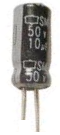 Capacitor with short leads