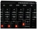 Equalizer frequencies
