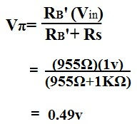 Example of the calculation of VÏ€ (Vpi) of ac transistor analysis of mid frequency response