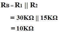 Example of the calculation of Rb of ac transistor analysis of mid frequency response