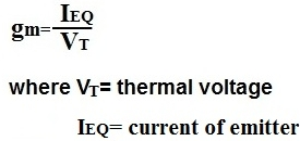 calculation of gm of a transistor