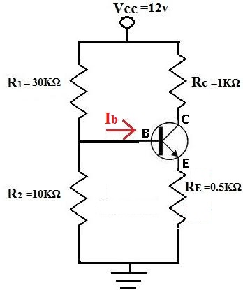 How to calculate Ib of a Transistor Circuit
