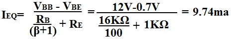 Calculation of Ieq of Transistor Circuit