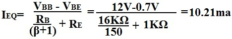 calculation ieq of transistor